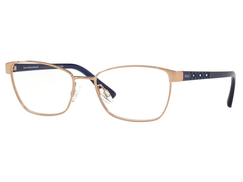 8d654da0ef464 Óculos de Grau Grazi Massafera Quadrado Metal Dourada Aro Fechado Com  Plaquetas 0gz1010b e818 52