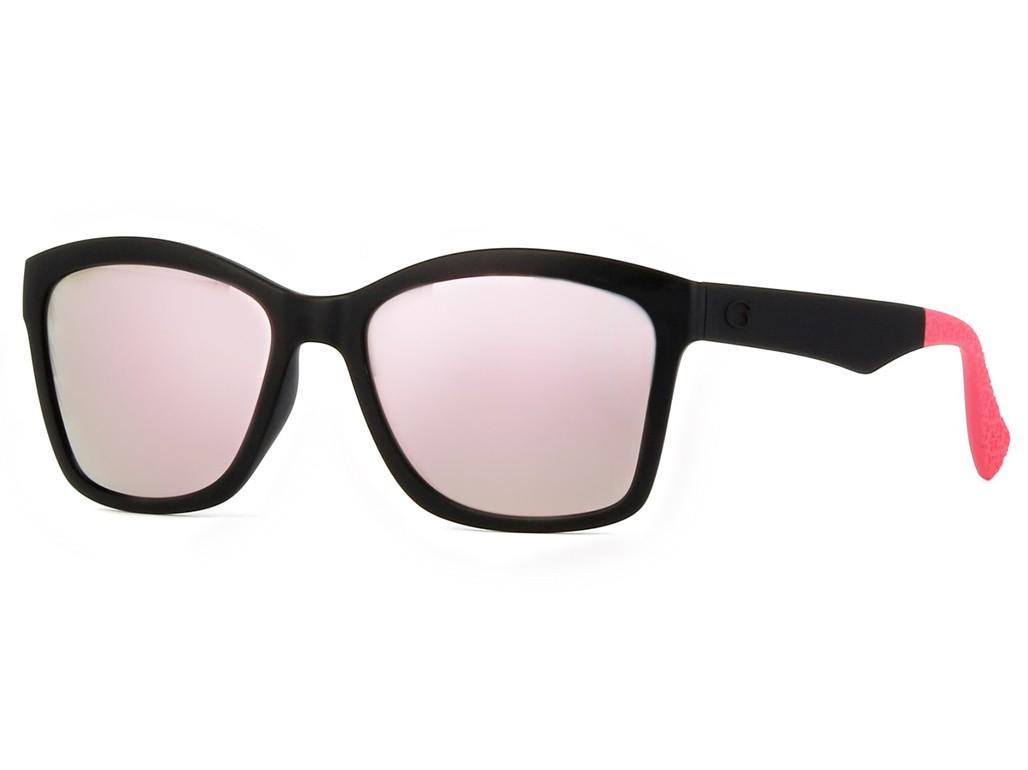 Óculos de Sol Guess Quadrado Armação Acetato Preta Lente Rosa Espelhada Sem  Plaquetas gu7434 5602c 40b8bae502