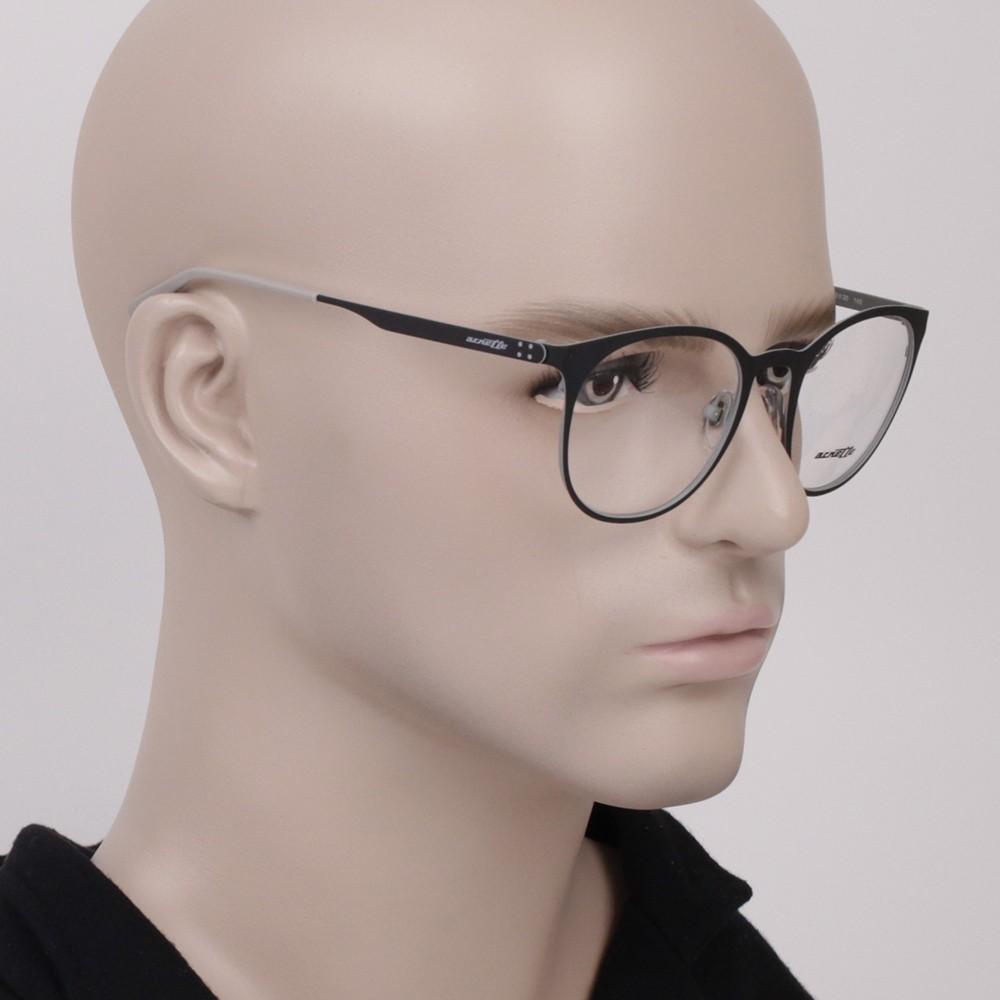 1f0f271d6af88 ... Óculos de Grau Arnette Redondo Metal Preta Aro Fechado Com Plaquetas  0an6113 687 50