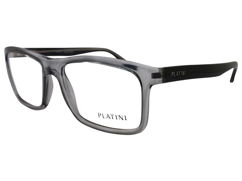 8992ec040 Óculos de Grau Platini Quadrado Cinza Aro Fechado Sem Plaquetas  0p93106c83755