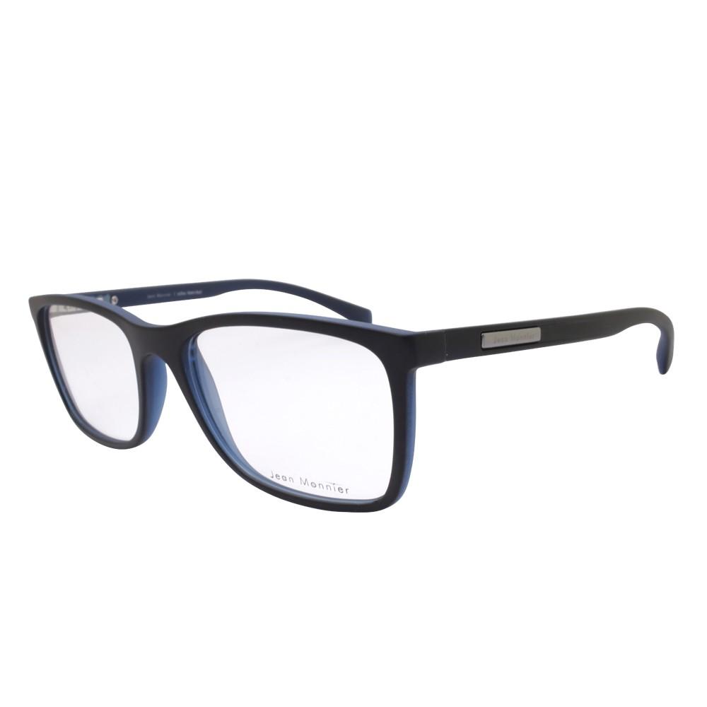 539a552d61913 Óculos de Grau Jean Monnier Retangular Acetato Preta Aro Fechado Sem  Plaquetas 0j83171 f569 54 ...