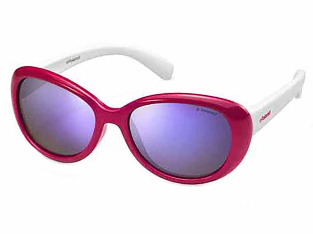 Óculos de Sol Polaroid Retangular Armação Acetato Vermelho Lente Roxa  Espelhada Sem Plaquetas pld8004 s cd96cc6825