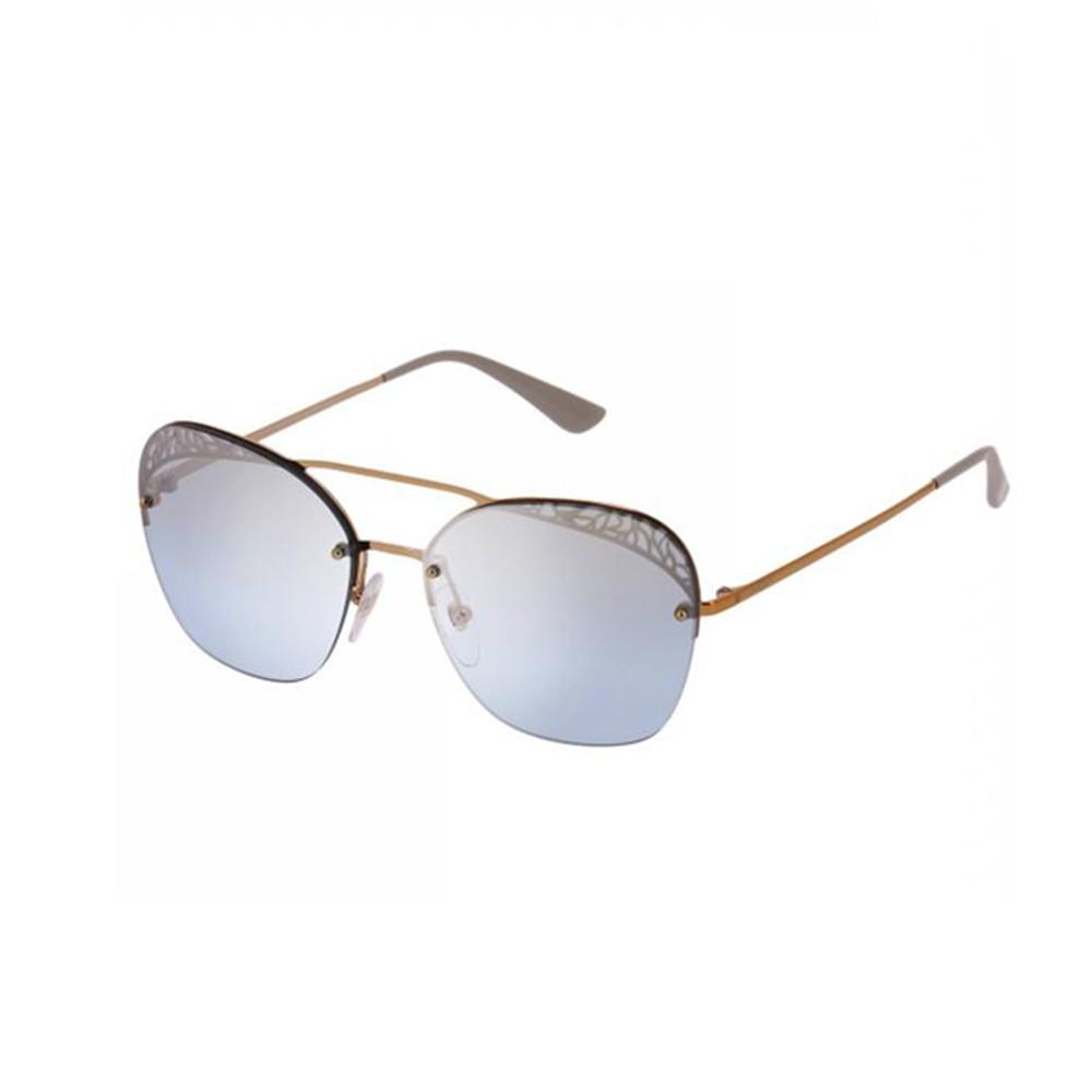 31ad69a9dbf27 Óculos de Sol Vogue Aviador Armação Metal Dourada Lente Azul Degradê Com  Plaquetas 0vo4104s 50757c57 ...