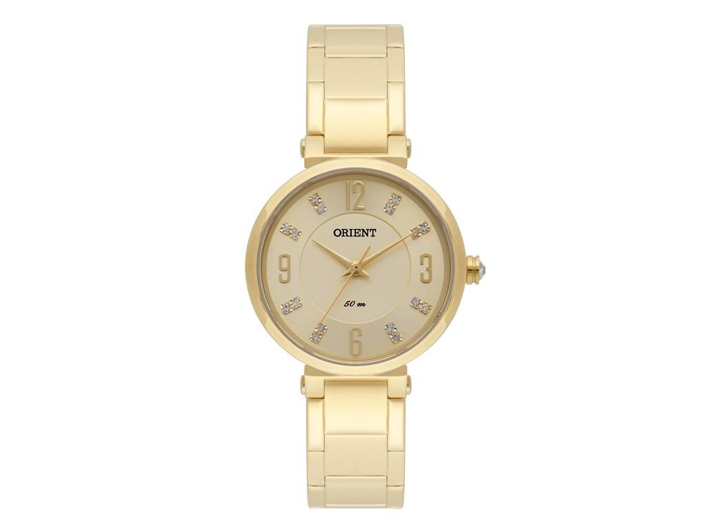 a767204012f Relógio Orient Dourado com Strass Feminino Authentika Joias