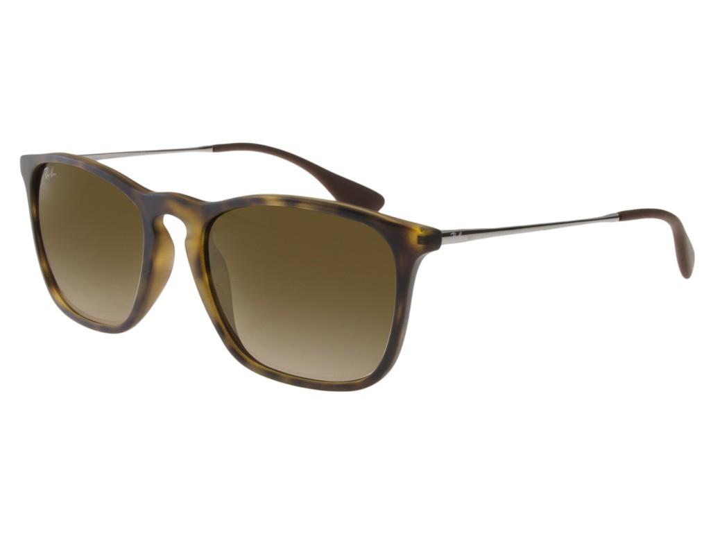 Óculos de Sol Ray-Ban Quadrado Armação Acetato Tartaruga Lente Marrom  Espelhada Com Plaquetas 0rb4187l601 27dc70f637
