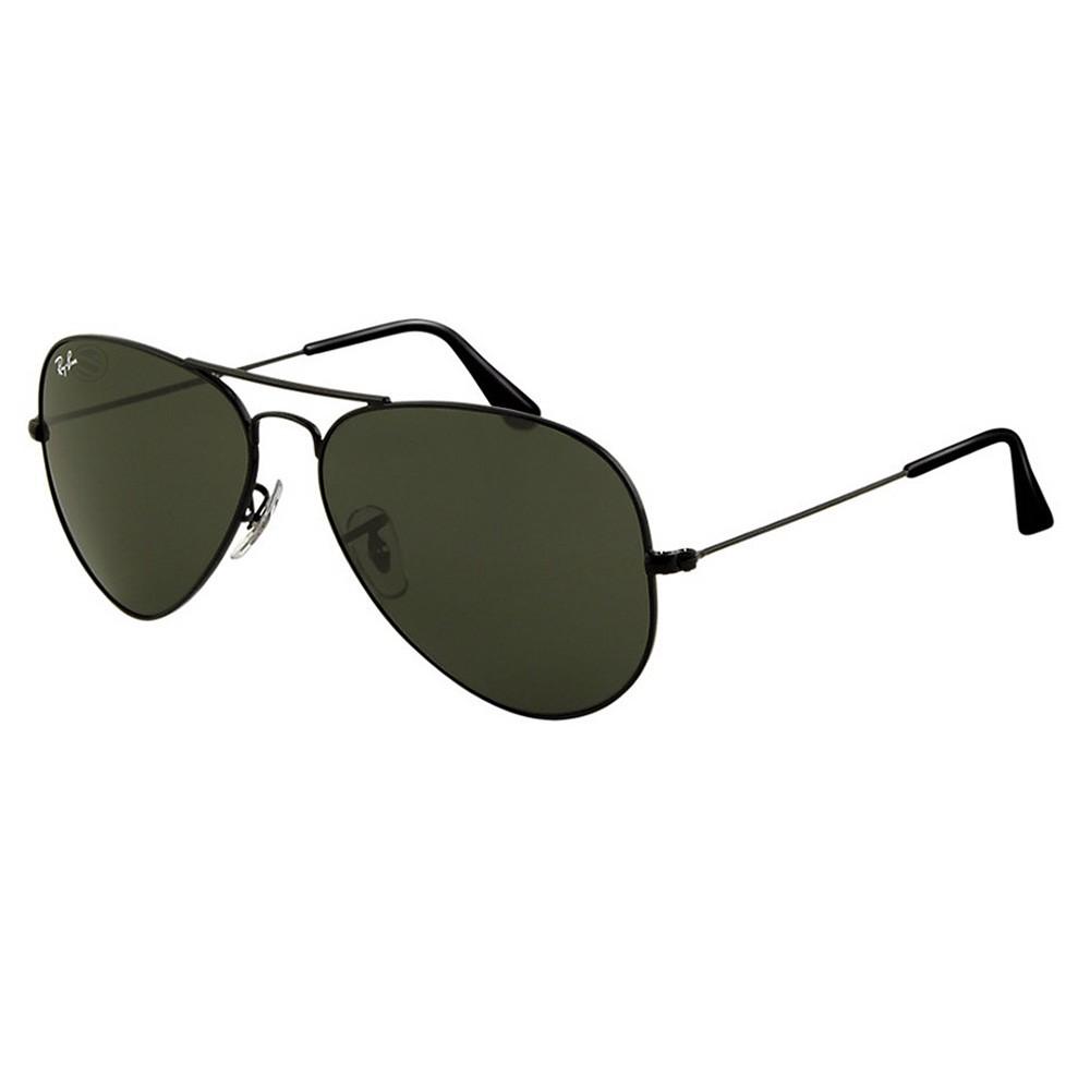 c01927d6da9c8 Óculos de Sol Ray-Ban Aviador Armação Metal Preta Lente Preta Comum Com  Plaquetas 0rb3025l ...