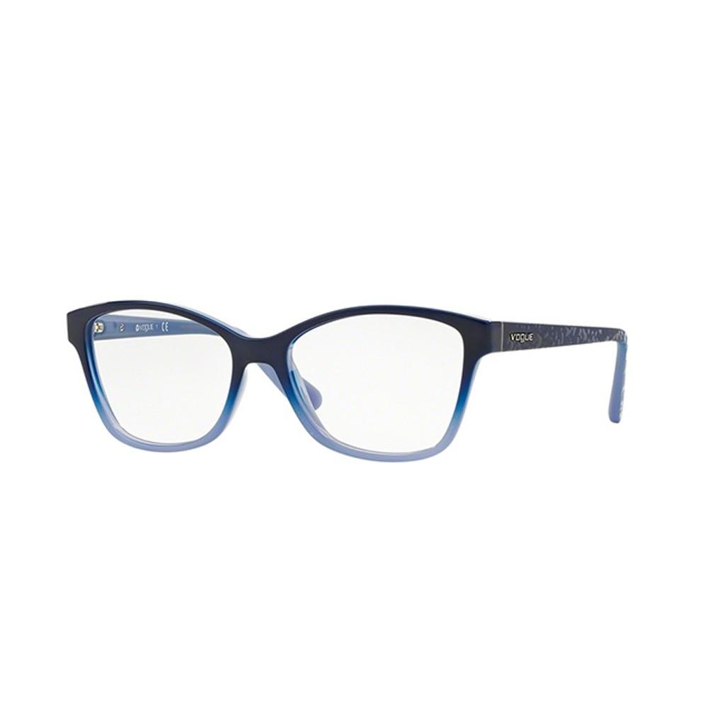 Óculos de Grau Vogue Quadrado Acetato Azul Aro Fechado Sem Plaquetas  0vo2998 2346 54 ... d106482add