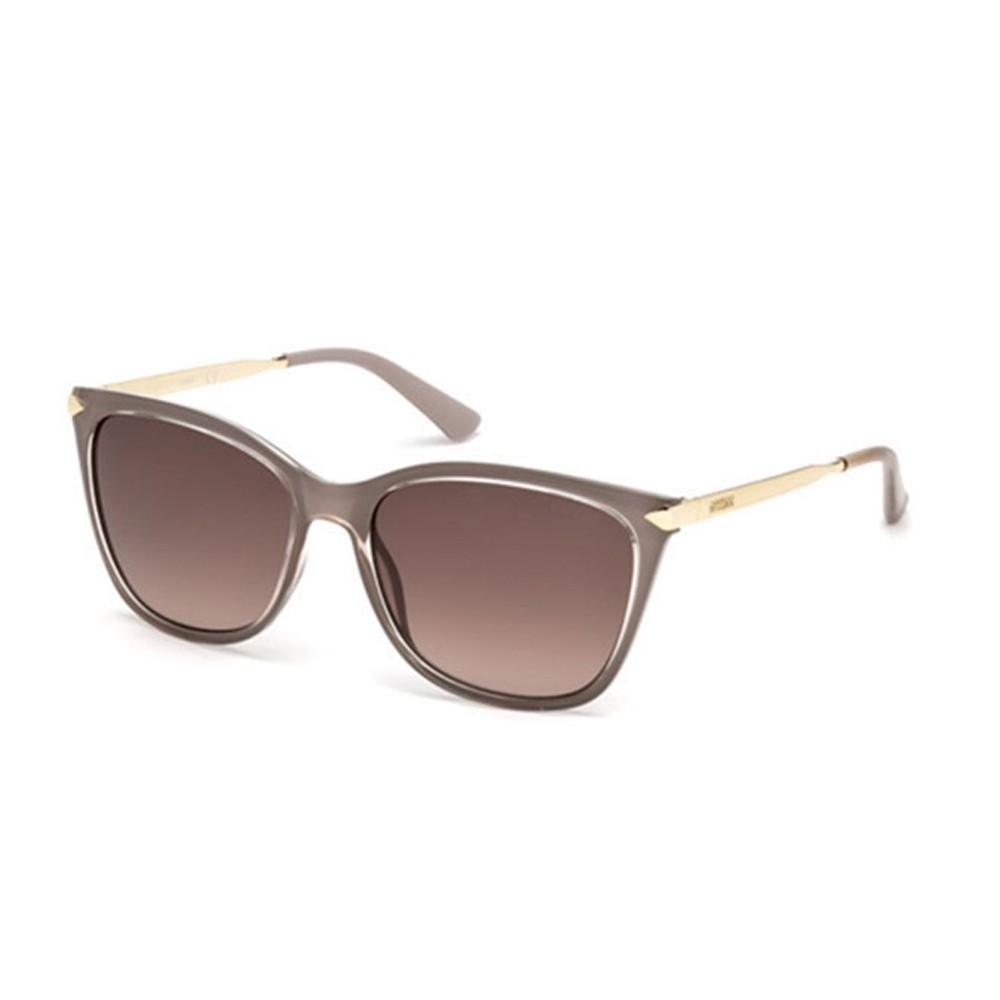 394e897c86626 Óculos de Sol Guess Quadrado Armação Acetato Marrom Lente Marrom Degradê  Sem Plaquetas gu7483 5657f ...