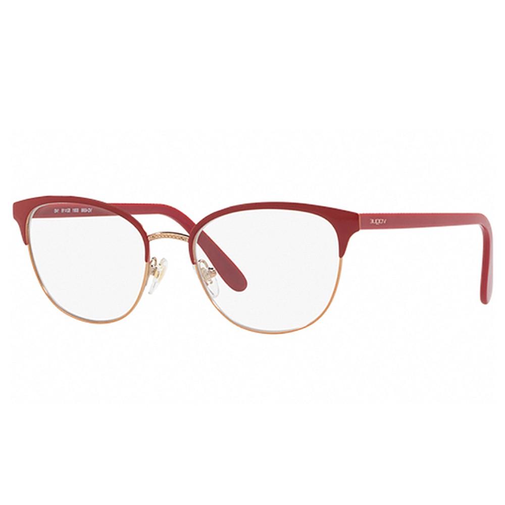 bebc658a66828 Óculos de Grau Vogue Gatinho Metal Vermelha Aro Fechado Com Plaquetas  0vo4088 5081 52 ...
