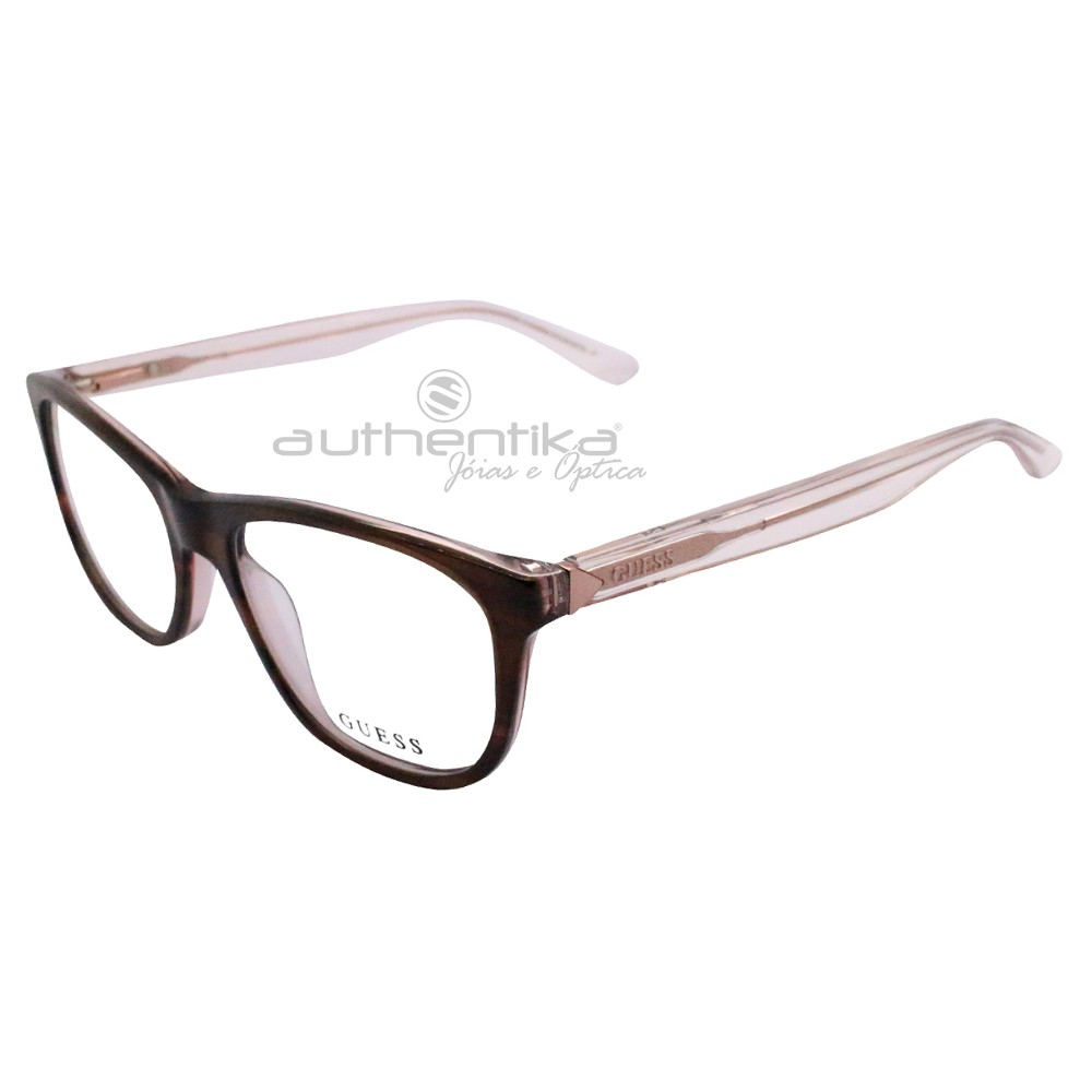 Óculos de Grau Guess Wayfarer Acetato Marrom Aro Fechado Sem Plaquetas  gu2585 52047 ... 40f0c6edb2