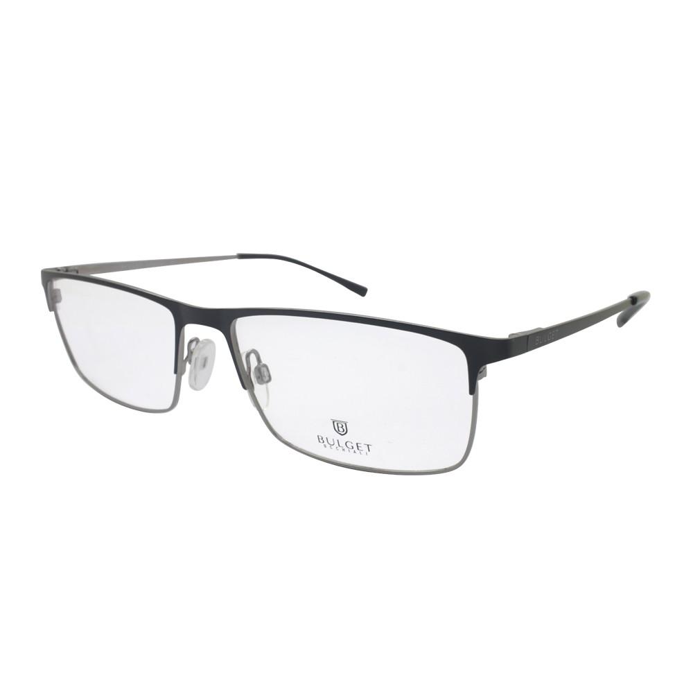 c5d094552eae8 Óculos de Grau Bulget Retangular Metal Preta Aro Aberto Com Plaquetas  bg1563 09a ...