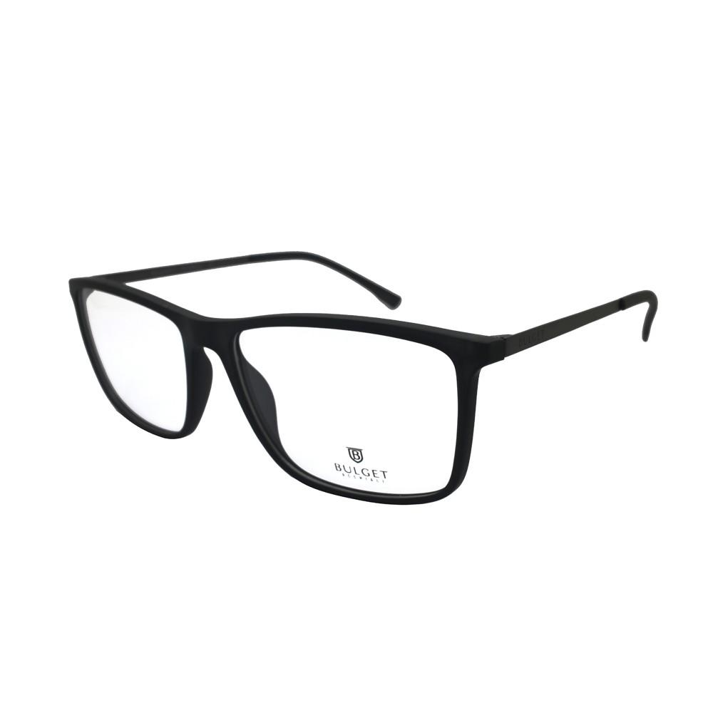 Óculos de Grau Bulget Retangular Acetato Preta Aro Fechado Sem Plaquetas  bg4039l t01 ... 007f5789ca