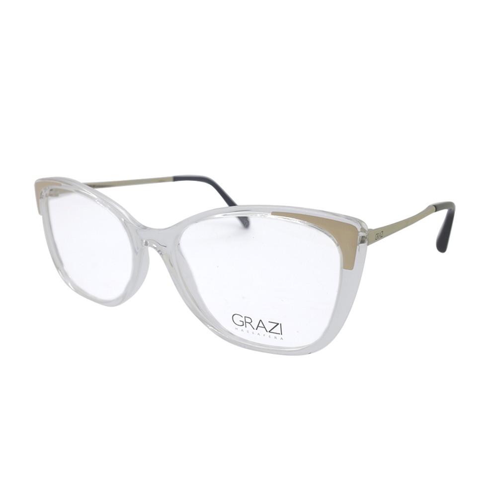 9038856990a5e Óculos de Grau Grazi Massafera Gatinho Acetato Transparente Aro Fechado Sem  Plaquetas 0gz3055 g172 53 .