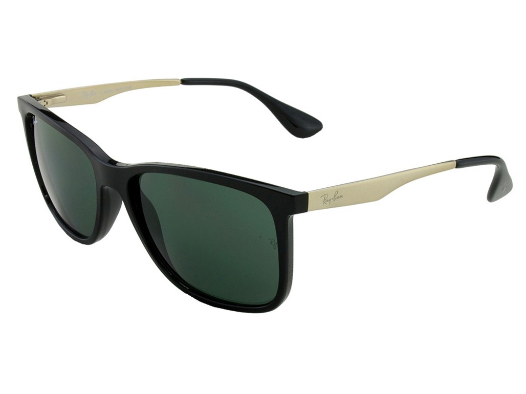 1bec1fac17ad3 Óculos de Sol Ray-Ban Quadrado Armação Acetato Preto Lente Preta Comum Sem  Plaquetas 0rb4271l