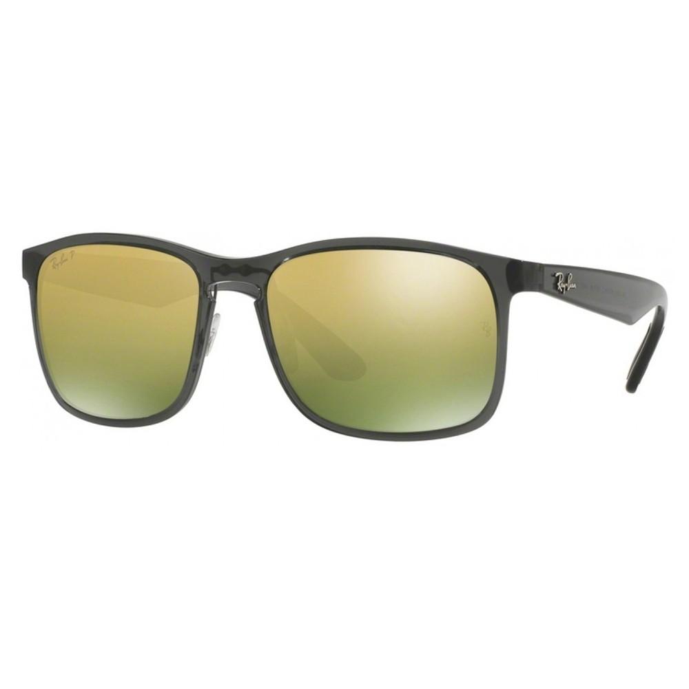 eb74c77091384 Óculos de Sol Ray-Ban Wayfarer Armação Acetato Preto Lente Verde Polarizada  Com Plaquetas rb4264876 ...