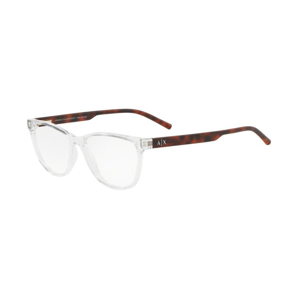 50a2a57b4c51b Óculos de Grau Armani Exchange Redondo Acetato Transparente Aro Fechado Sem  Plaquetas 0ax3047l 8235 53 ...