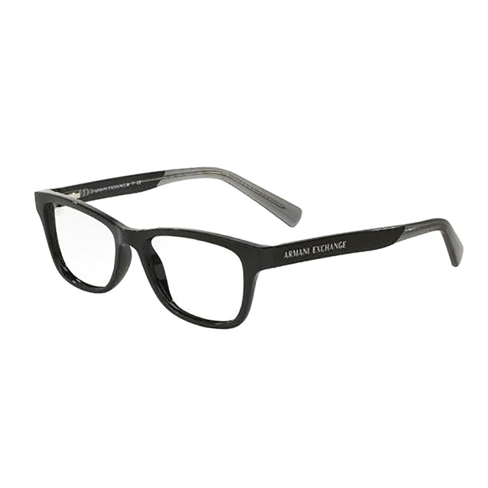 Óculos de Grau Armani Exchange Quadrado Acetato Preta Aro Fechado Sem  Plaquetas 0ax3029l818254 ... 616b1554cb