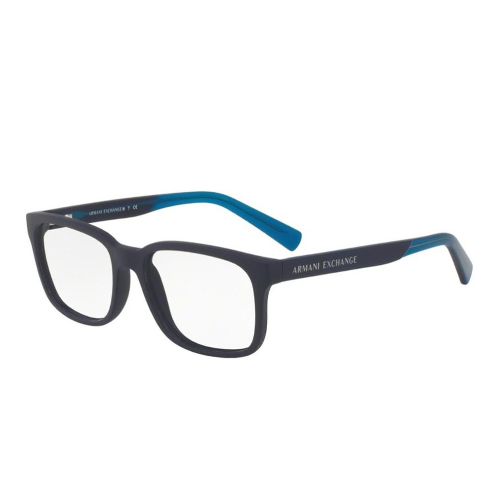 Óculos de Grau Armani Exchange Quadrado Acetato Azul Aro Fechado Sem  Plaquetas 0ax3029l818354 ... 7ff1276fe8