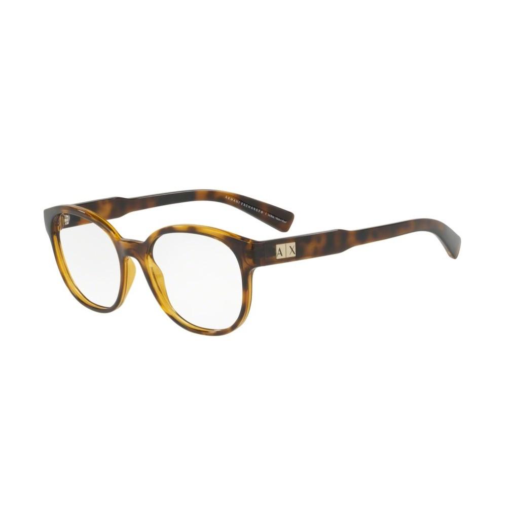 Óculos de Grau Armani Exchange Redondo Acetato Tartaruga Aro Fechado Sem  Plaquetas 0ax3040l 8037 53 ... 9933f0d807