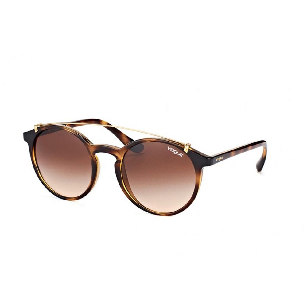 a7d5d5330b184 Óculos de Sol Vogue Redondo Armação Acetato Tartaruga Lente Marrom Degradê  Sem Plaquetas 0vo5161s w6561351 ...