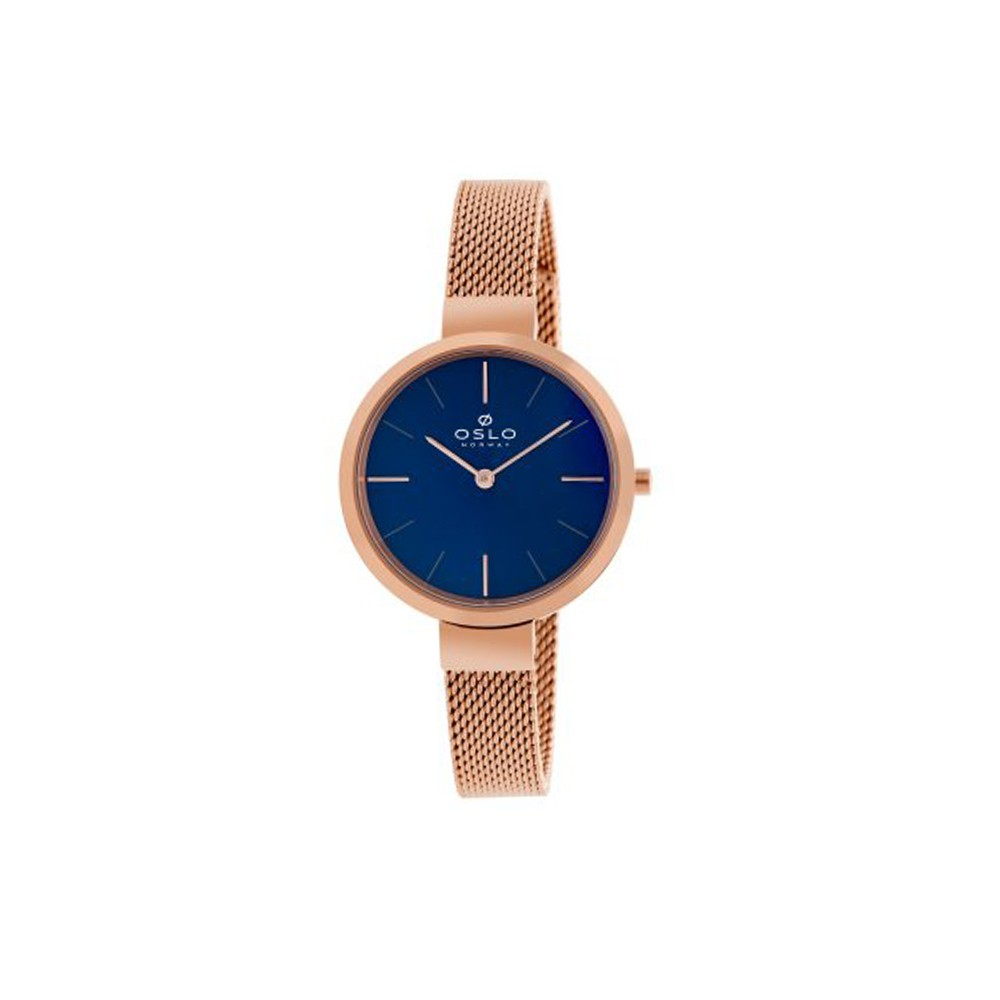 e07110d1c0e Relógio Oslo Azul e Cobre Feminino Authentika Joias