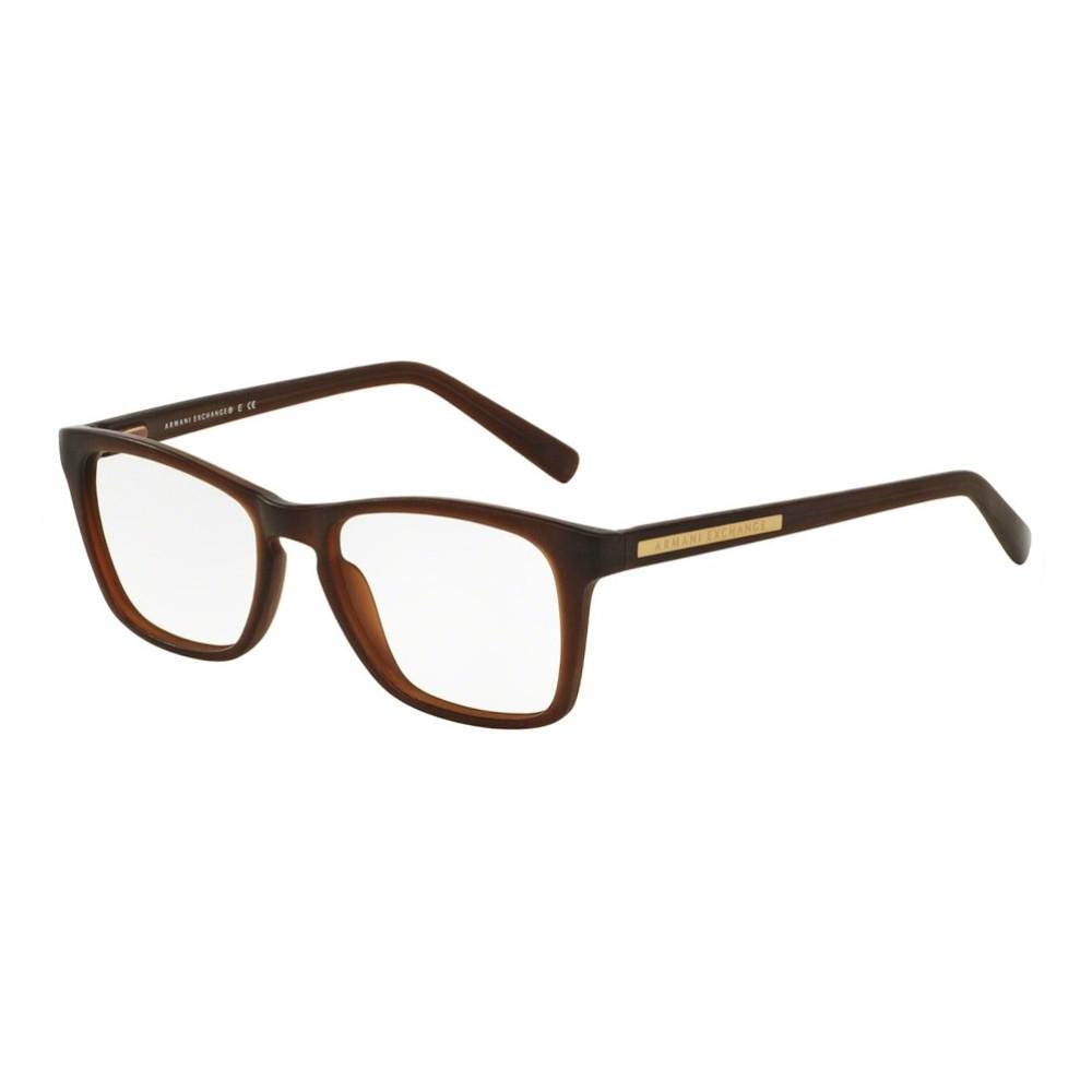 Óculos de Grau Armani Exchange Quadrado Acetato Marrom Aro Fechado Sem  Plaquetas 0ax3012l808354 ... 74bb28f18e