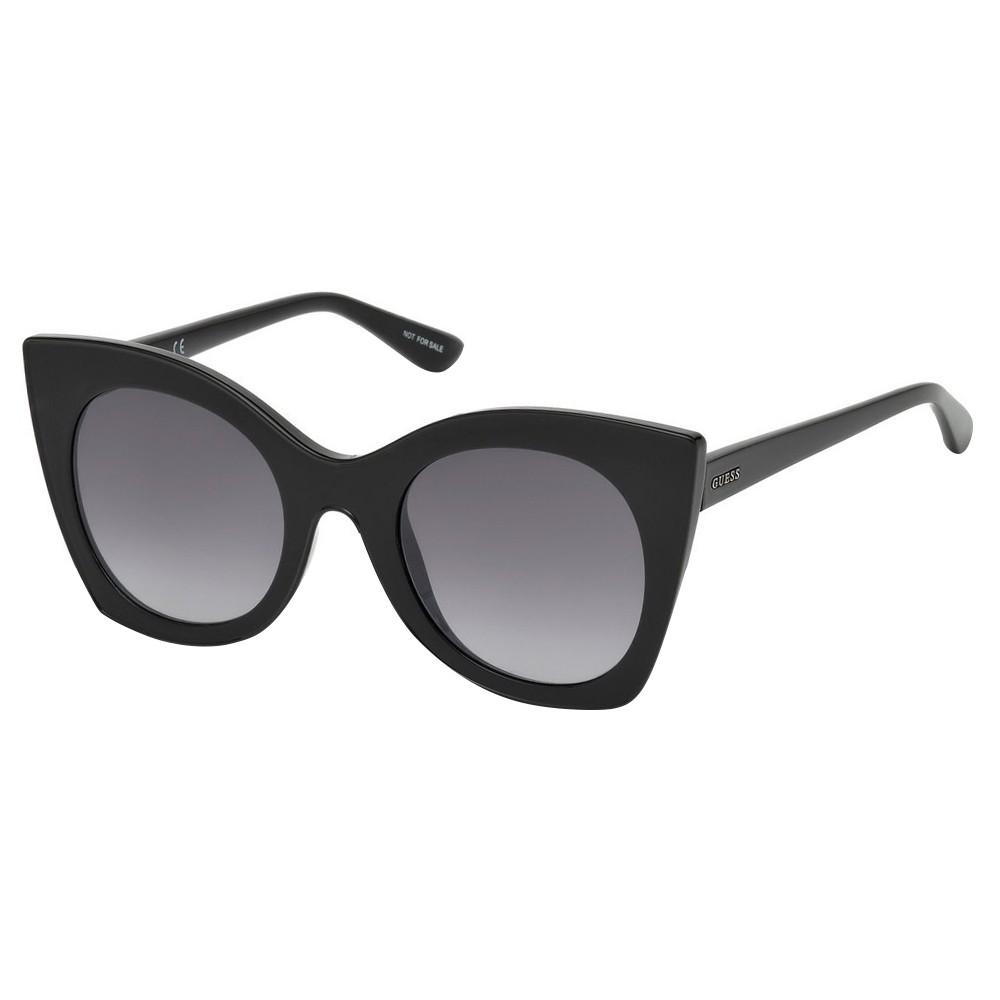 Óculos de Sol Guess Gatinho Armação Acetato Preto Lente Preta Degradê Sem  Plaquetas gu7525 5101b ... 92927724cc