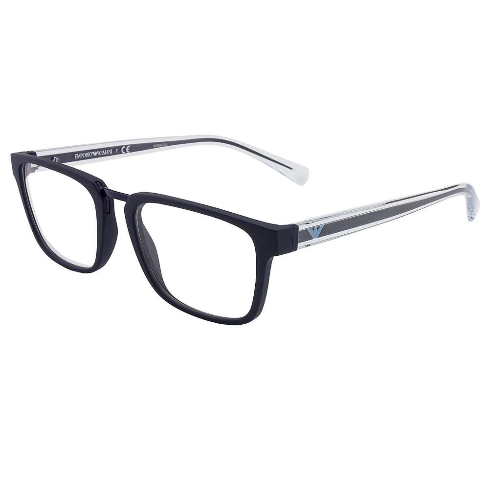 Óculos de Grau Emporio Armani Quadrado Acetato Azul Aro Fechado Sem  Plaquetas 0ea3108 5570 53 ... f97e9ae905