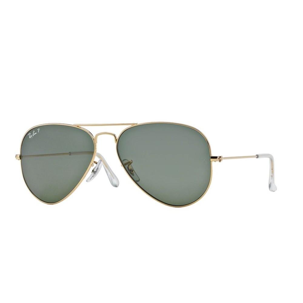 Óculos de Sol Ray-Ban Aviador Armação Metal Dourada Lente Verde Polarizada  Com Plaquetas 0rb3025l ... 2f4cdf8287