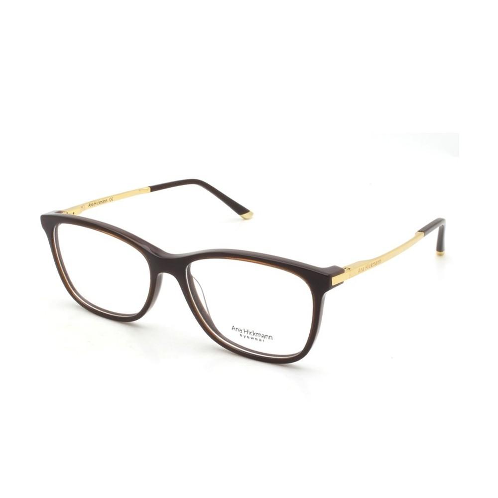 Óculos de Grau Ana Hickmann Quadrado Acetato Marrom Aro Fechado Sem  Plaquetas ah6264 h01 ... 5e94745ff7