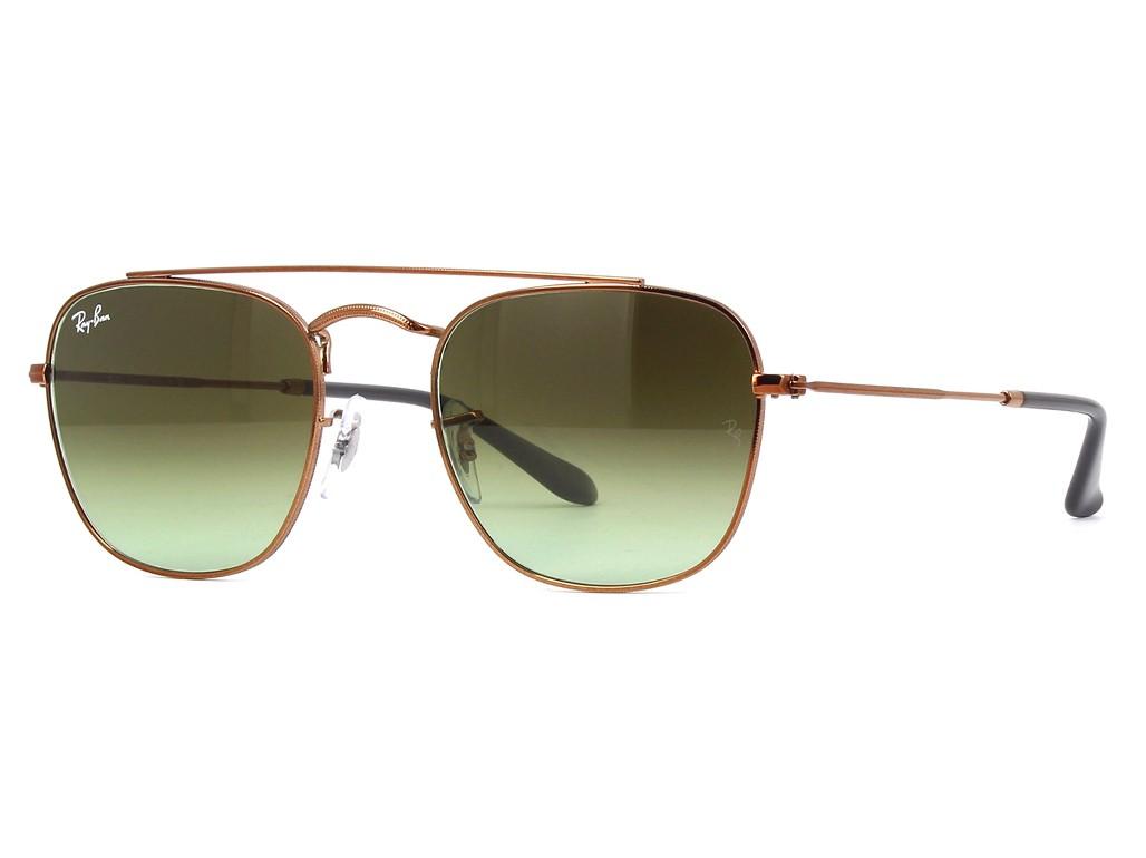 c2a8ec81ef57c Óculos de Sol Ray-Ban Redondo Armação Metal Vermelha Lente Marrom Degradê  Com Plaquetas 0rb3557