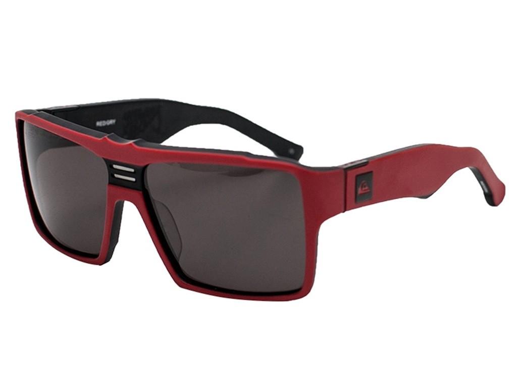 f77b6233545e2 Óculos de Sol Quiksilver Quadrado Armação Acetato Vermelha Lente Preta  Comum Sem Plaquetas qs1143859