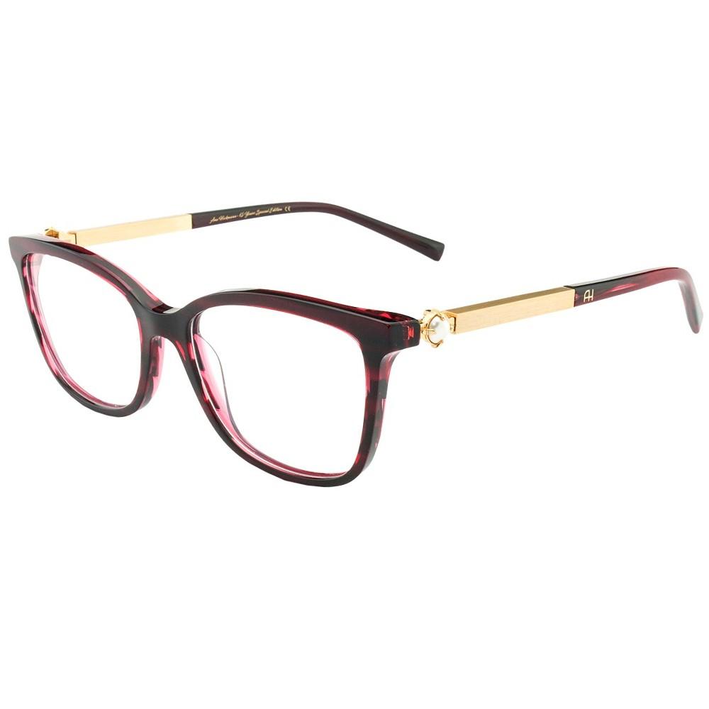 a31c4ef612c4e Óculos de Grau Ana Hickmann Gatinho Acetato Vermelha Aro Fechado Sem  Plaquetas PARIS II WINE ...