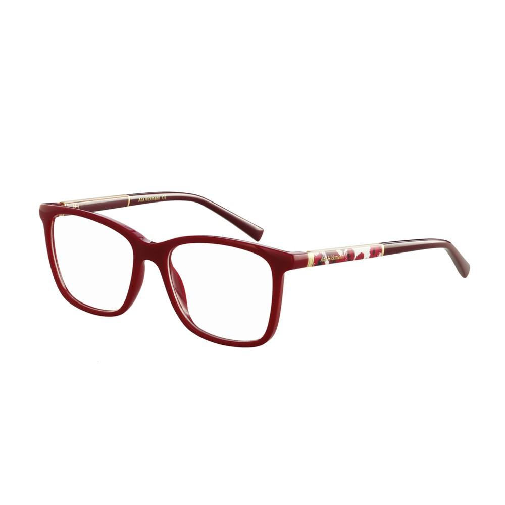 Óculos de Grau Ana Hickmann Quadrado Acetato Vermelha Aro Fechado Sem  Plaquetas ah6268 d01 ... c13728291a