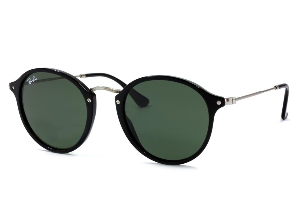 3a364221db910 Óculos de Sol Ray-Ban Redondo Armação Acetato Preta Lente Verde Comum Sem  Plaquetas 0rb244790152 ...
