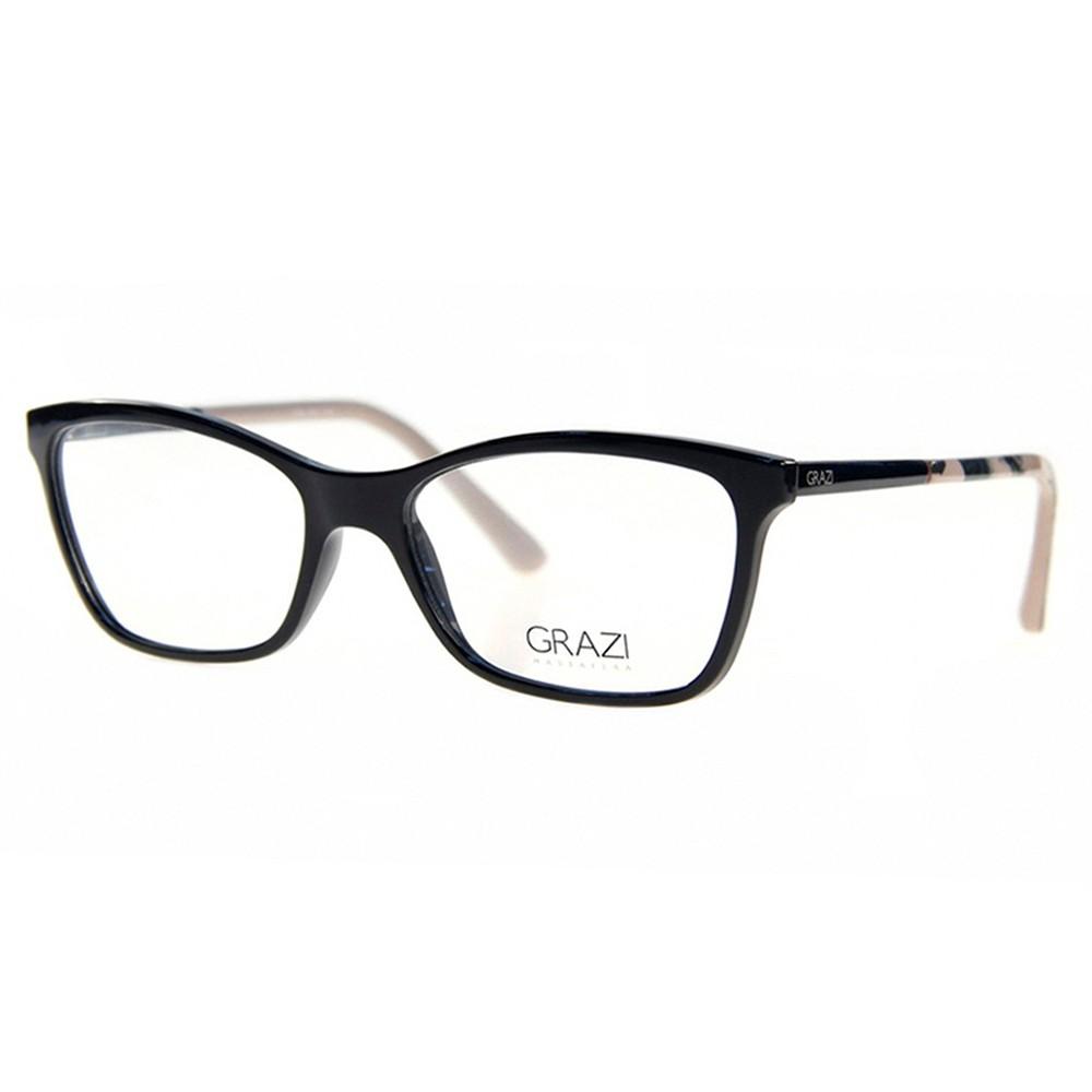 Óculos de Grau Grazi Massafera Quadrado Acetato Preta Aro Fechado Sem  Plaquetas 0gz3020 e082 53 ... 92c9df7bc5