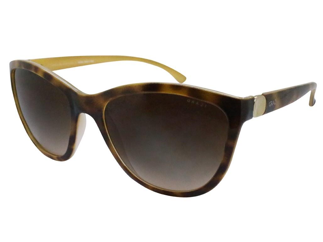 Óculos de Sol Grazi Massafera Redondo Armação Acetato Tartaruga Lente  Marrom Comum Sem Plaquetas 0gz4007 d406 20a1998484