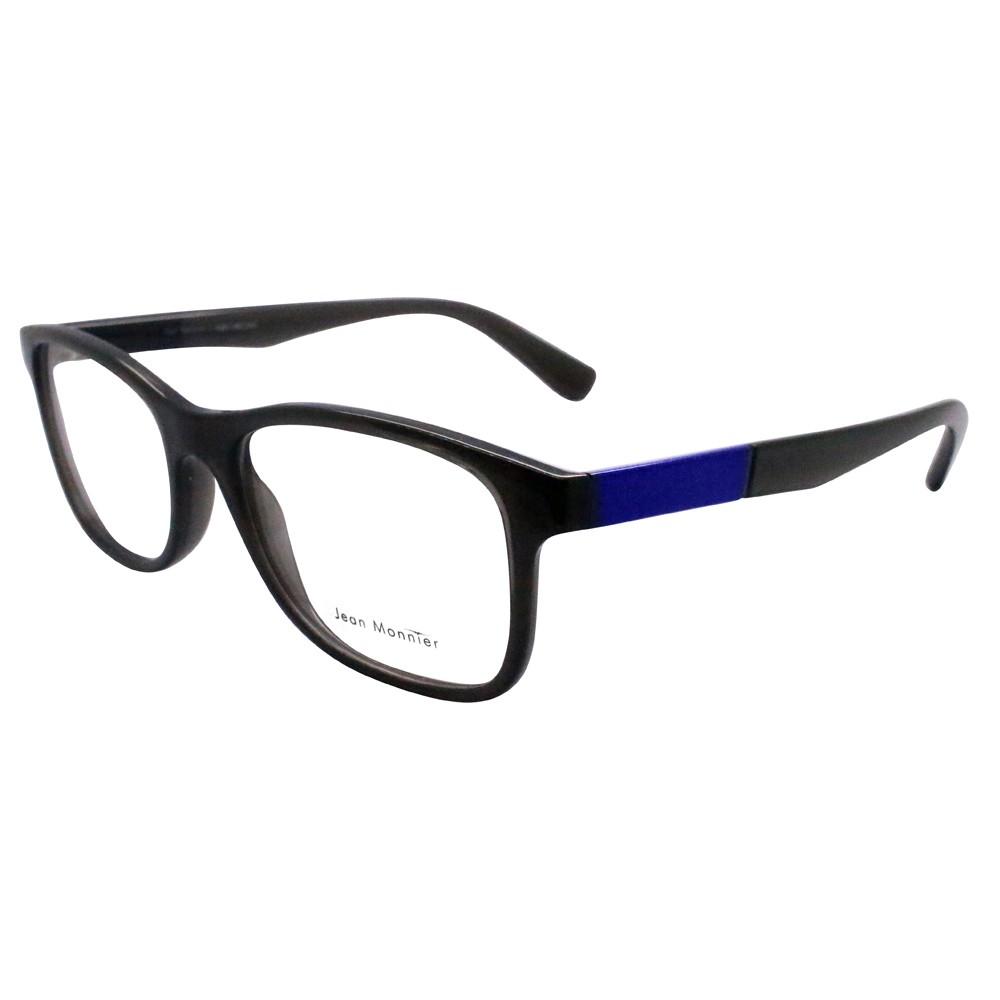 68eef8b717e54 Óculos de Grau Jean Monnier Wayfarer Acetato Cinza Aro Fechado Sem Plaquetas  0j83161 e975 53 ...