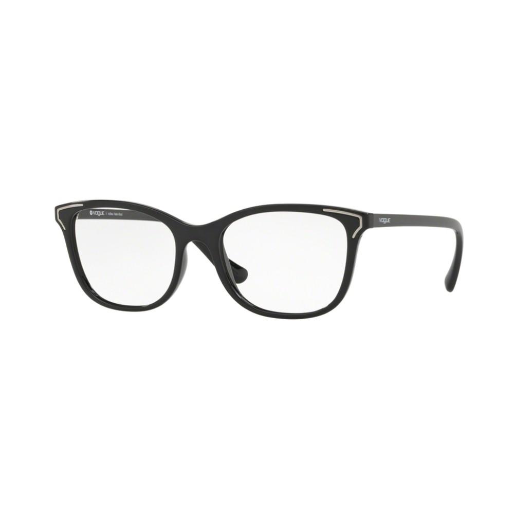 d25c4ab68d7c0 Óculos de Grau Vogue Quadrado Acetato Preta Aro Fechado Sem Plaquetas  0vo5214l w44 54 ...