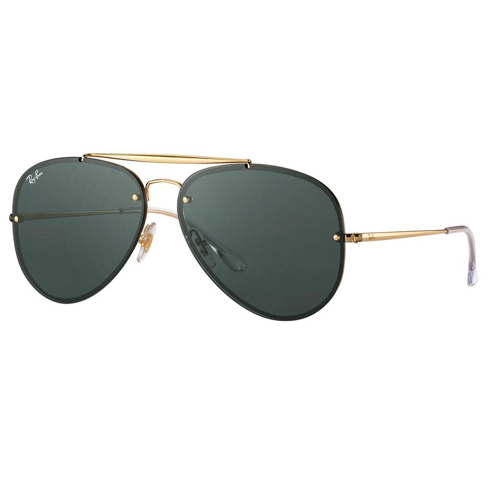 f624c6e7186c7 Óculos de Sol Ray-Ban Aviador Armação Metal Dourado Lente Preta Comum Com  Plaquetas 0rb3584n ...