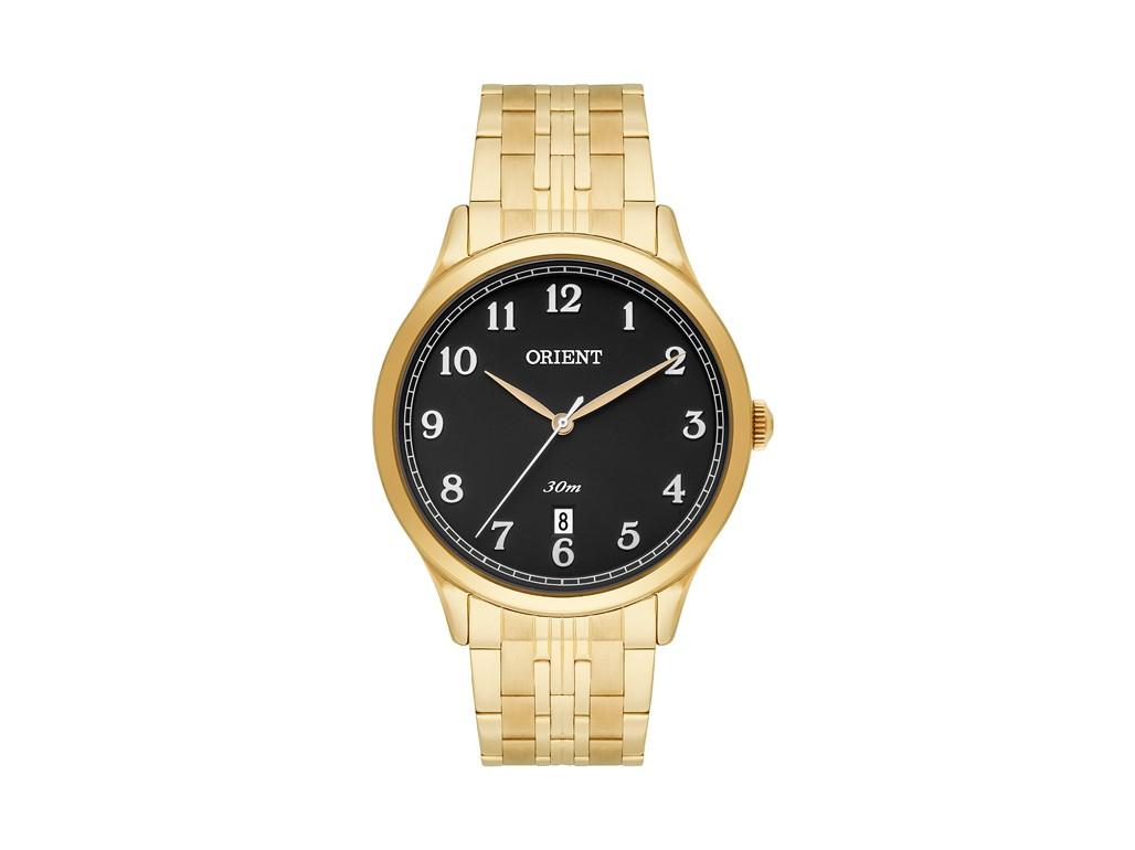 afa84e1b720 Relógio Orient Dourado e Preto Masculino Authentika Joias