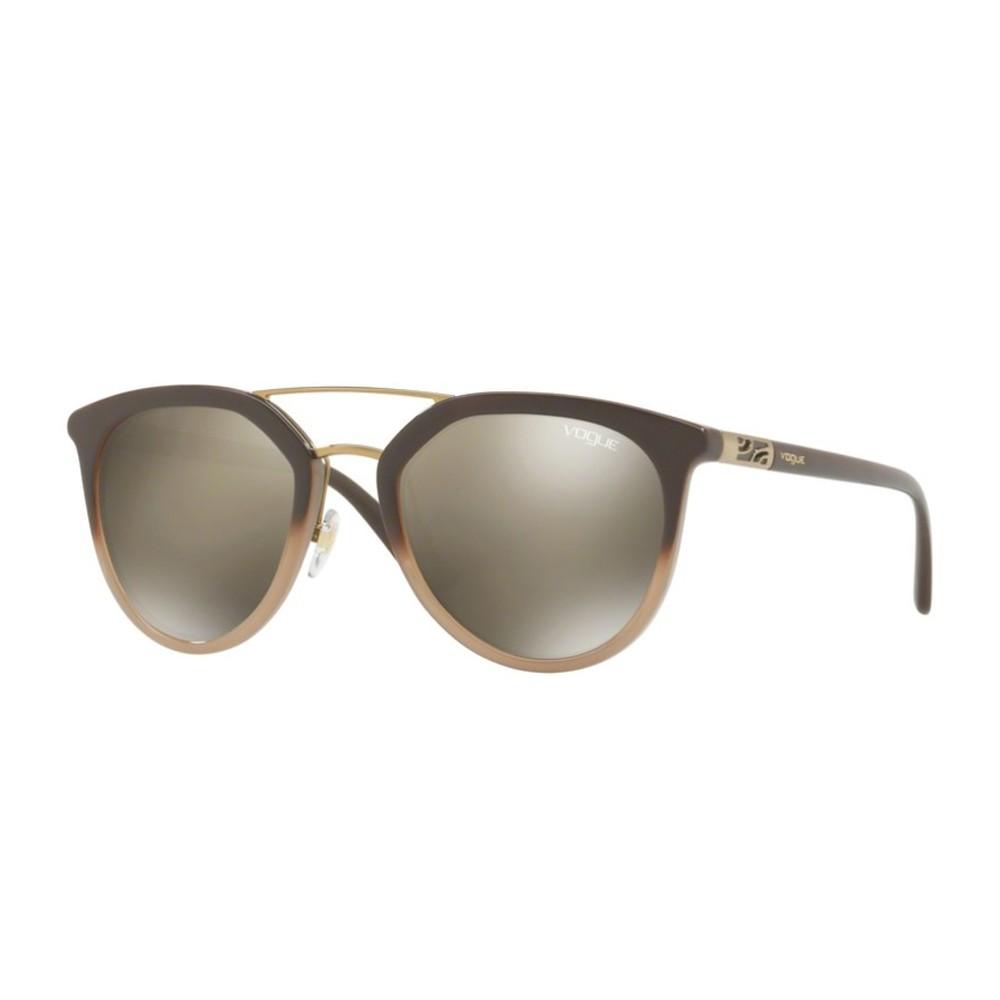 15797d1ba6362 Óculos de Sol Vogue Redondo Armação Acetato Marrom Lente Dourada Espelhada  Sem Plaquetas 0vo5164s 25605a52 ...