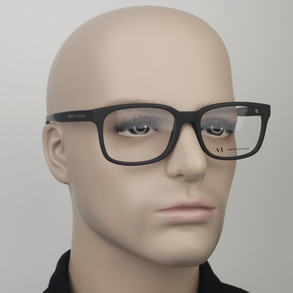 ... Óculos de Grau Armani Exchange Quadrado Acetato Preta Aro Fechado Sem  Plaquetas 0ax3029l818254 44d5608932