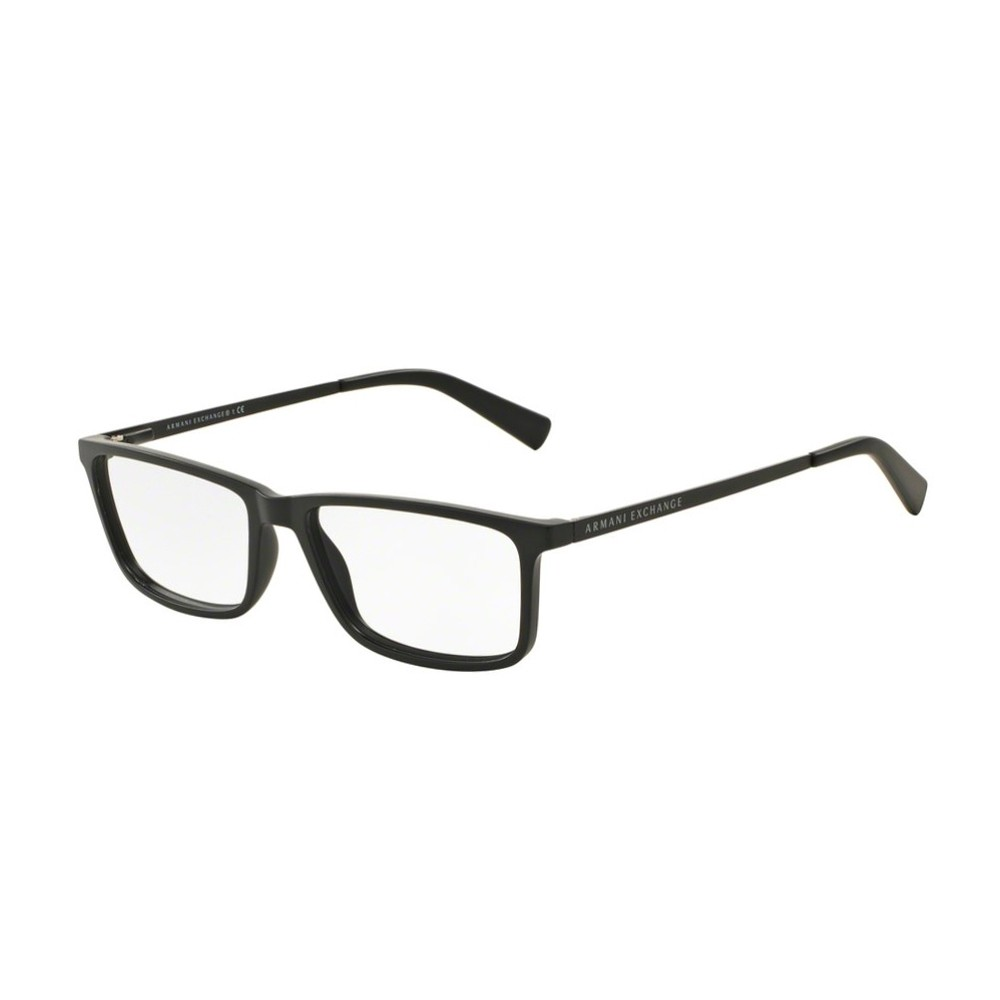 Óculos de Grau Armani Exchange Retangular Acetato Preta Aro Fechado Sem  Plaquetas 0ax3027l807855 ... da6ce806e8