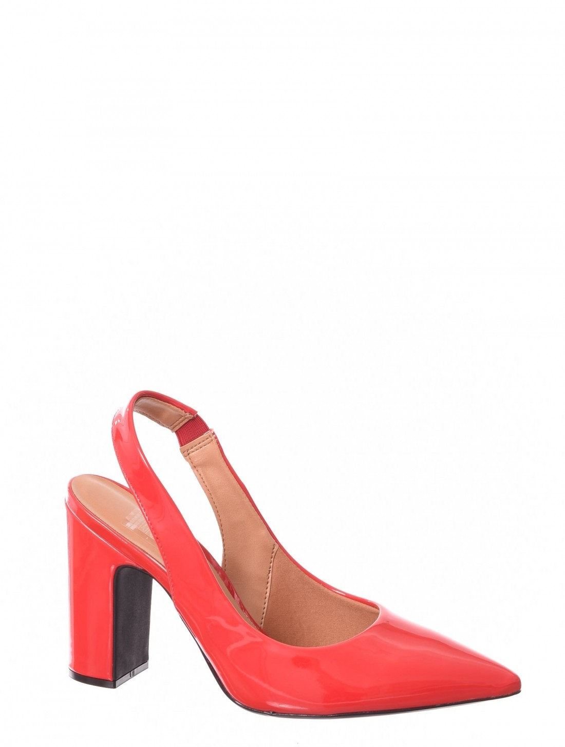 d9a0d341be Sapato Chanel Vizzano Verniz Bico Fino Detalhe Elástico Vermelho ...