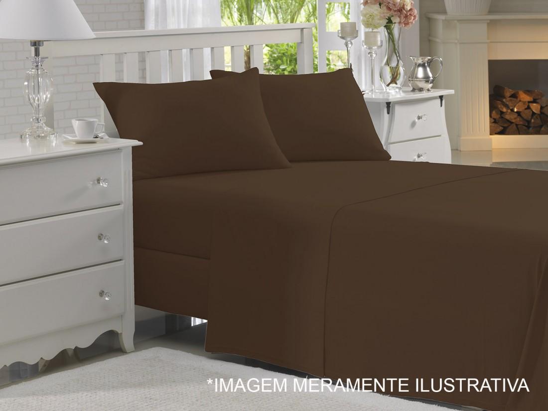 29d55c9b81 Sobre Lençol King Size Extra Com Vira Chocolate