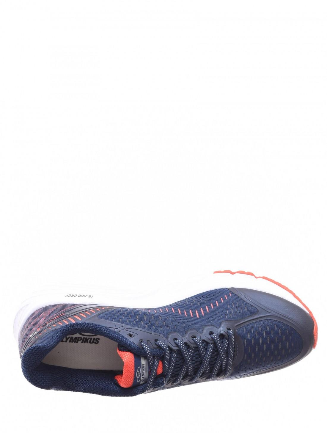 Tênis Olympikus Challenger Tecido Trabalhado Azul Marinho e Laranja ... 6d8c3f175ace3