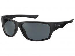 f3a25923686a2 Óculos de Sol Polaroid Retangular Armação Plástico Preto Lente Preta Comum  Sem Plaquetas pld 7012