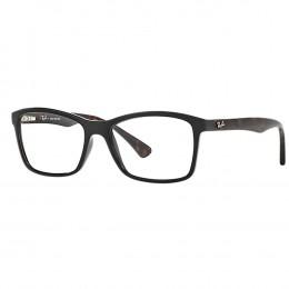 Óculos de Grau Ray-Ban Quadrado Acetato Preta Aro Fechado Sem Plaquetas  0rx7095l 556653 89afbec714