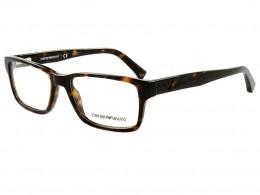 bcccd04d95191 Óculos de Grau Emporio Armani Retangular Acetato Tartaruga Aro Fechado Sem  Plaquetas 0ea3087 5026 54